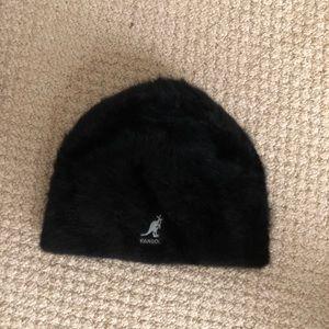 Black kangol fur hat beanie